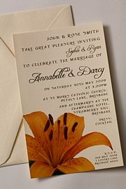 Tiger Lily Invitation