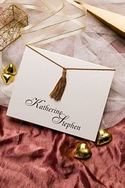 Double Fold Card with Tassel Invitation