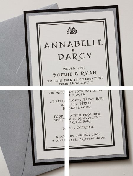 Chanel Wedding Invitations Stationery