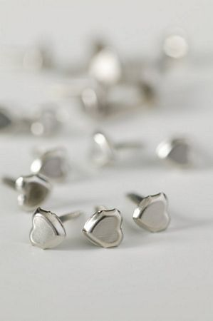 Small Plain Heart Silver Studs
